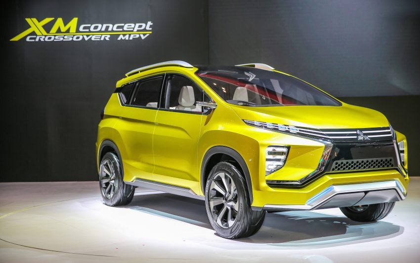 Mitsubishi XM (Honda BR-V rival) crossover revealed at GIIAS