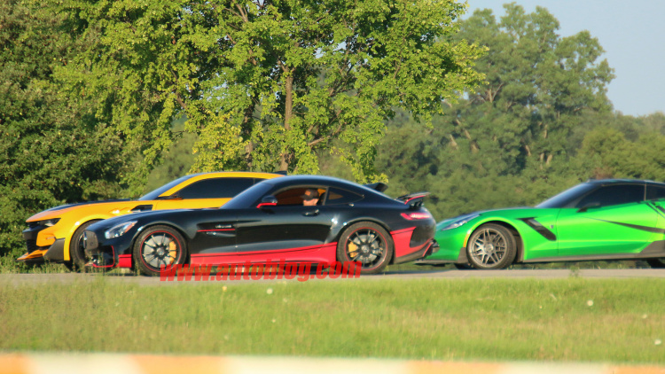Transformers 5's Mercedes-AMG GT R and Corvette Z06 spied