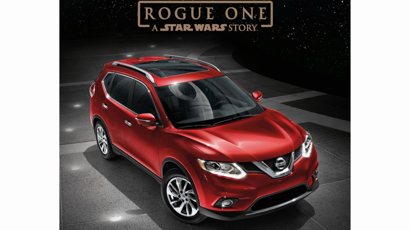 There's a Nissan Rogue promo tie-in with Rogue One: A Star Wars Story because of course