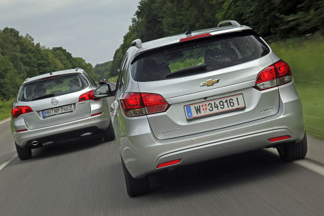 Chevrolet Cruze and Opel Astra