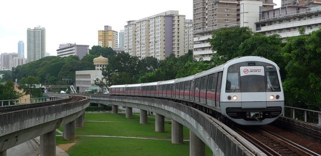 Illustration: LRT in Singapore