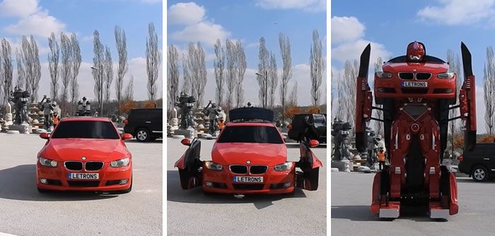 real life Transformer out of a BMW 3-series