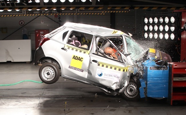 Datsun Go NCAP crash test