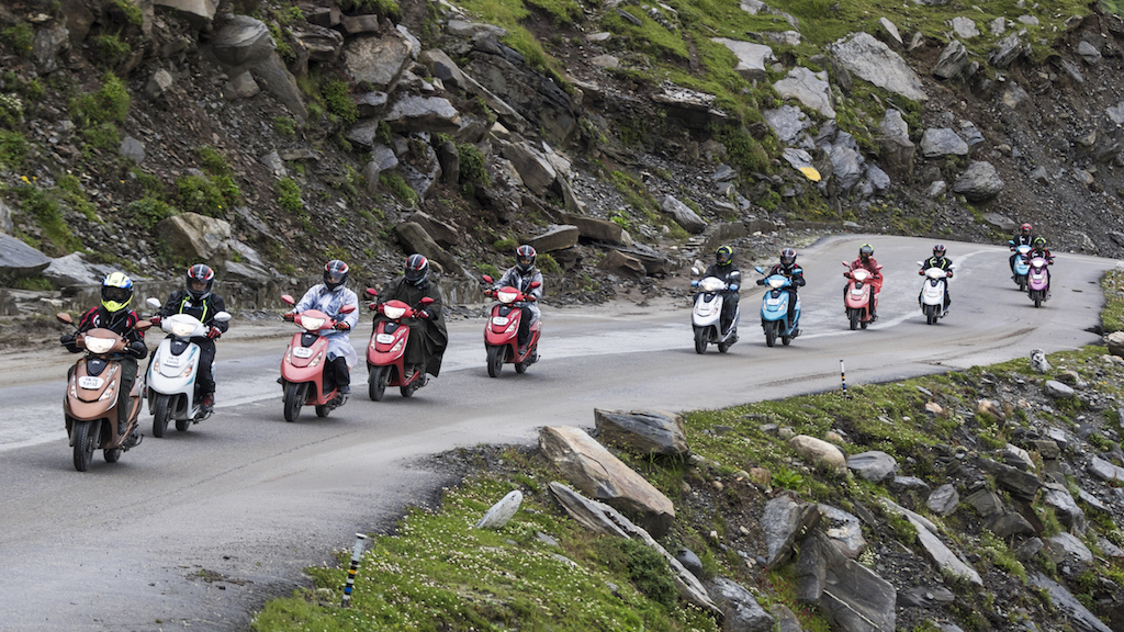 Himalayan Highs – 11 women on the TVS Scooty Zest 110 create history