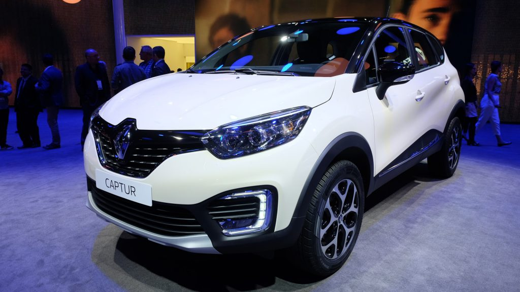 Renault Captur on view at the 2016 Sao Paulo Auto Show