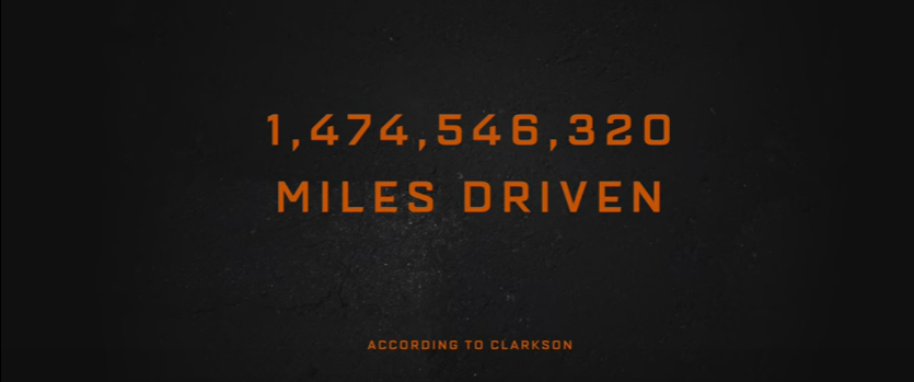The Grand Tour demolished 27 cars and drove over 1.4 billion miles