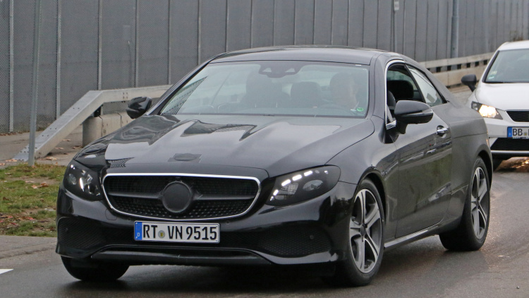Nearly naked Mercedes-Benz E-Class Coupe spied in Germany