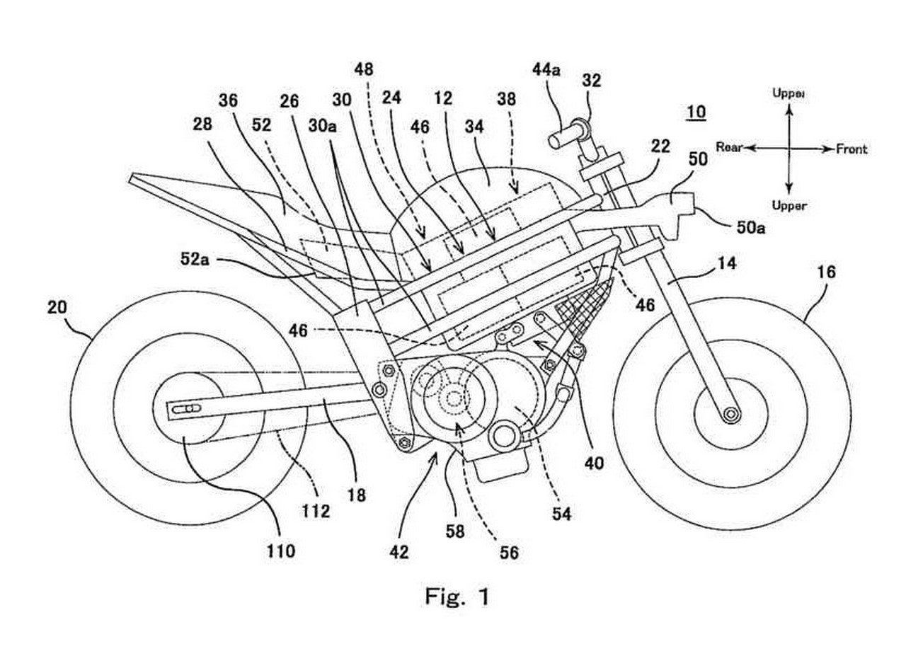 Kawasaki electric motorcycle patent images leaked