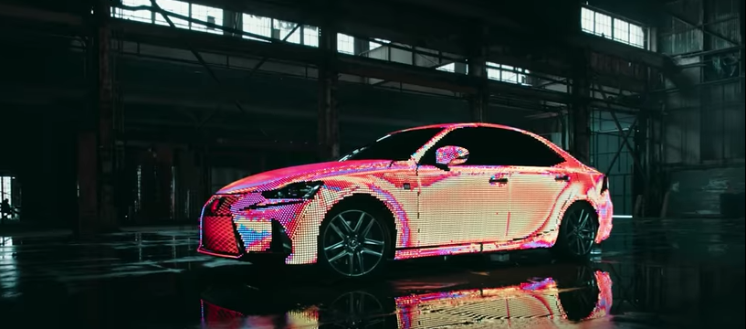 This LED-covered Lexus IS doubles as a display