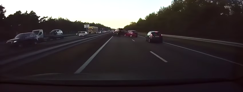 Video evidence of Tesla Autopilot anticipating a crash two cars ahead