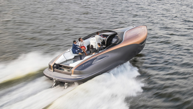 Lexus goes from land yachts to water yachts with this boat concept