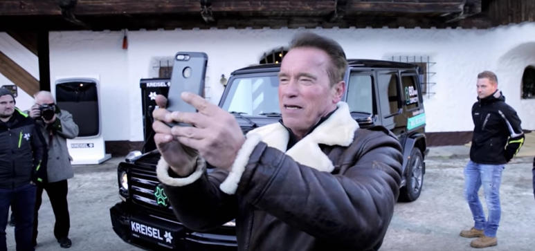 Arnold Schwarzenegger unveils the electric Mercedes-Benz G-Class of his dreams