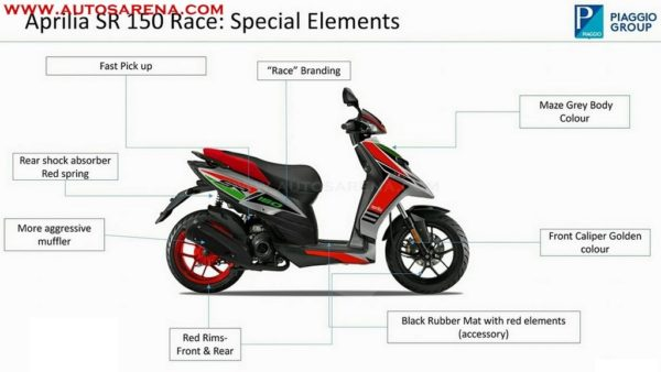 Aprilia SR 150 Race Edition brochure leaks out