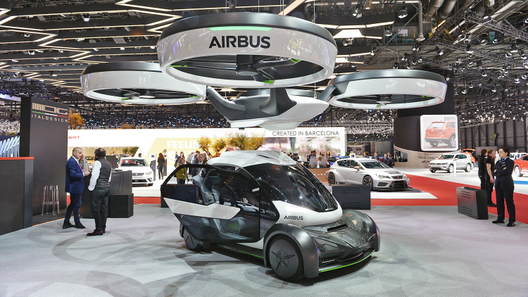 Airbus and Italdesign's Pop.Up is either flying or a car