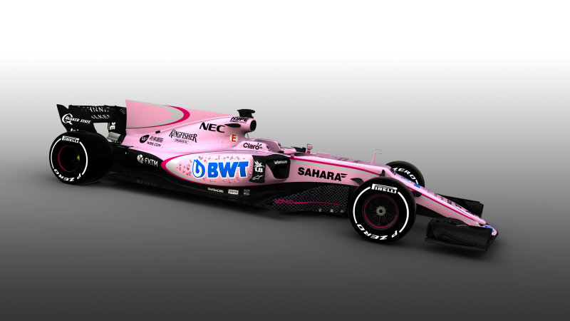 Force India picks a pink palette for its new F1 car