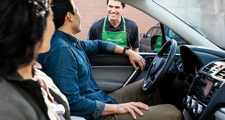 Amazon drive-through grocery pickup: Never get out of your car