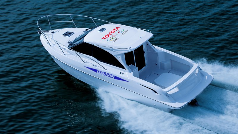 Toyota's latest hybrid is a boat