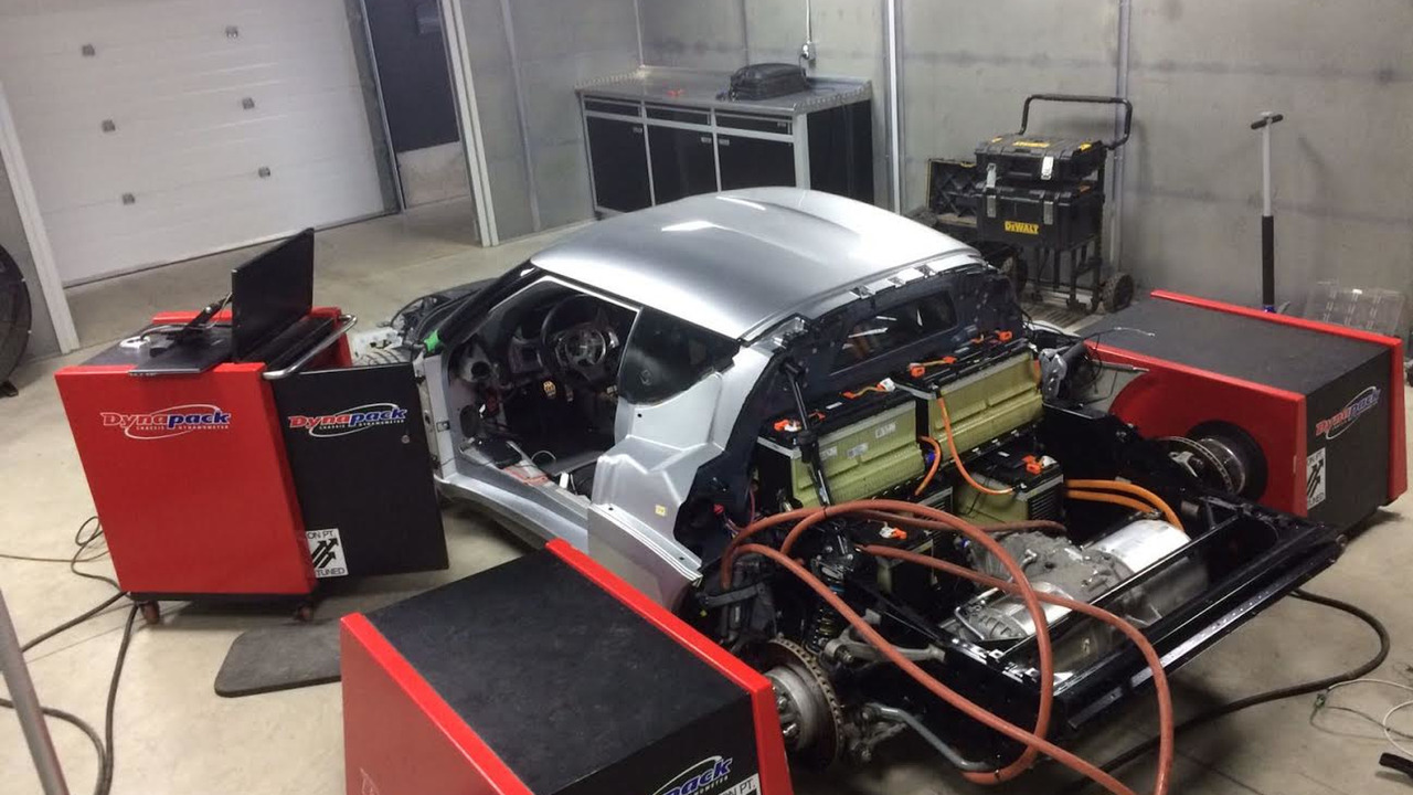 tesla electric motor swap in lotus evora puts out 440 whp on dyno. Black Bedroom Furniture Sets. Home Design Ideas