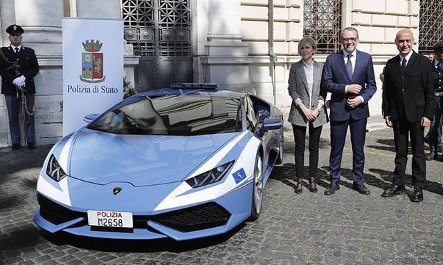 Meet The Latest Addition To Italy's Police Force: A Lamborghini Huracan