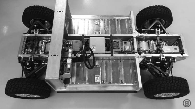 Bollinger Motors unveils electric sport truck chassis for on and off-road performance