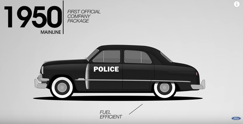In hot pursuit of history: Watch evolution of Ford's police cars