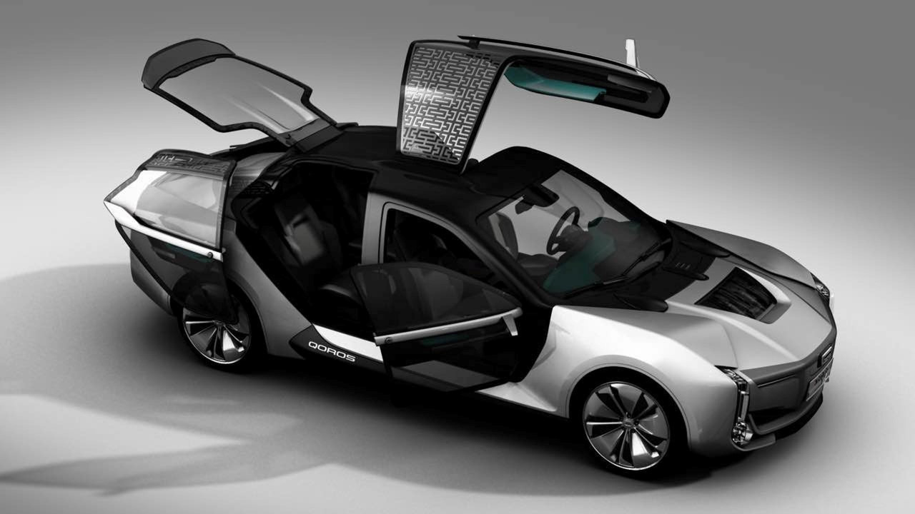 Qoros Model K-EV Shows Off Its Crazy Asymmetrical Doors