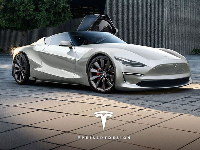 Will The New Tesla Roadster Look As Sleek As This Stunning Render?
