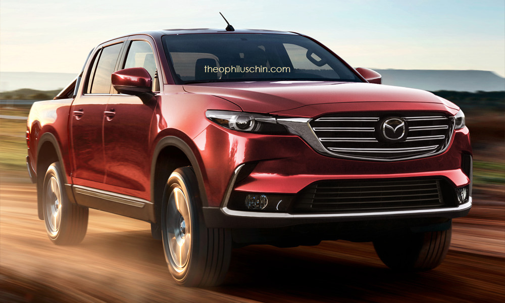 Next-gen Mazda BT-50 rendering