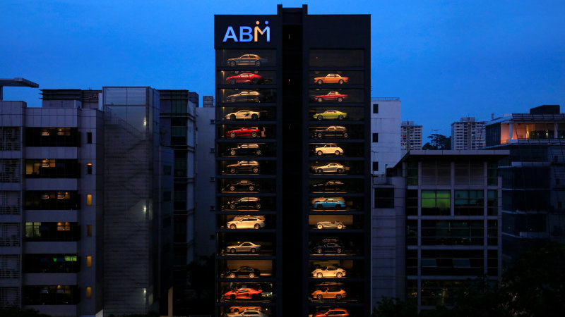 Singapore 'vending machine' dispenses Ferraris, Lamborghinis