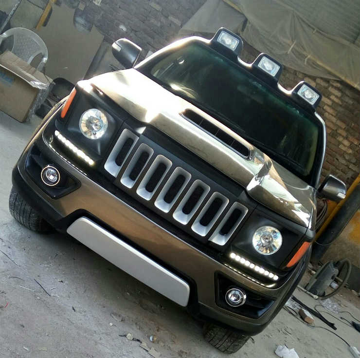 Toyota Fortuner modified to look like a Jeep Renegade