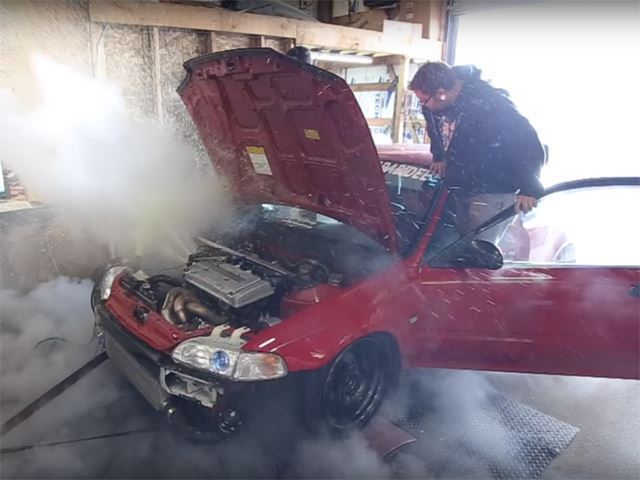 Watch A 500 HP Honda Civic Nearly Explode On The Dyno
