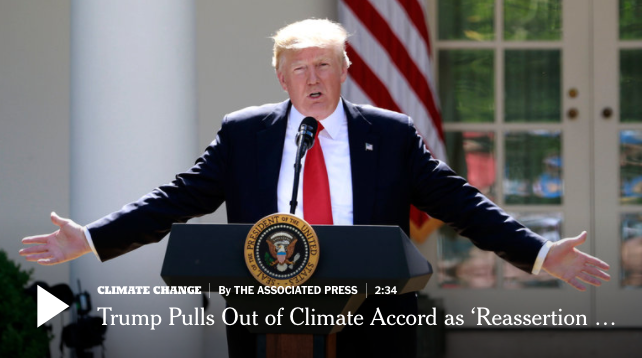 Trump pulls out of Paris accord - but in many ways, he can't stop progress
