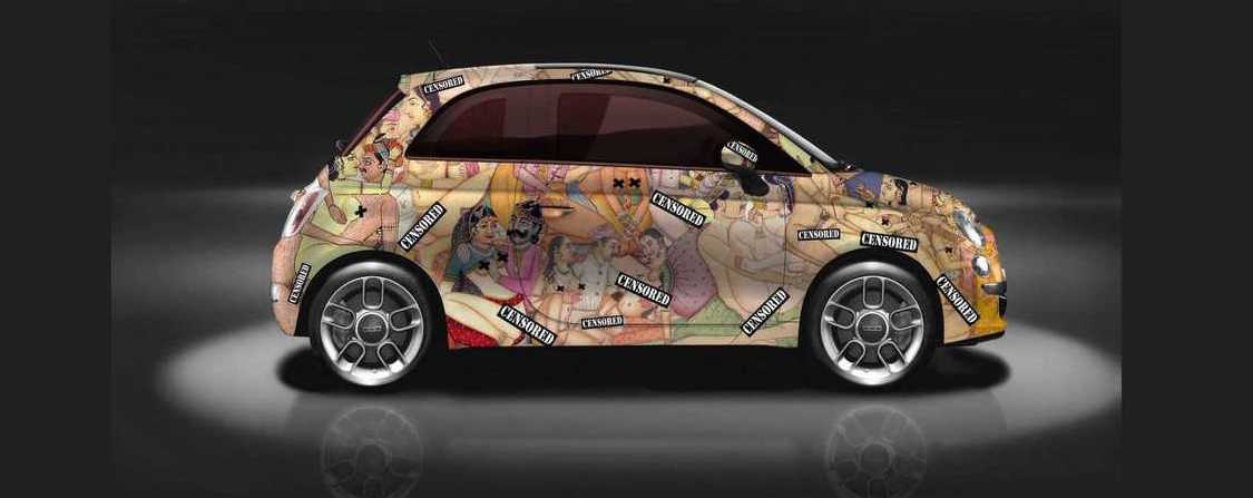 Kama Sutra Themed Fiat 500 Is Tastefully Nsfw