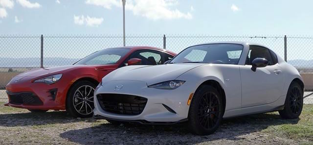 Stock Toyota 86 And Mazda MX-5 RF Beat Dodge Charger Hellcat On Track