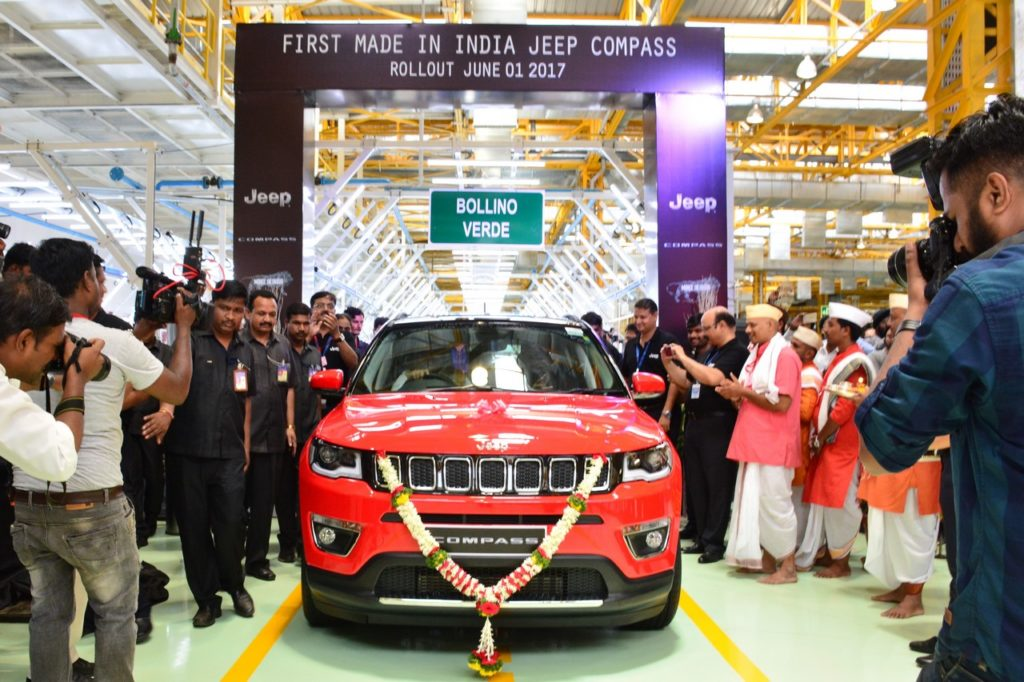 India-made RHD Jeep Compass rolls out of Ranjangaon facility