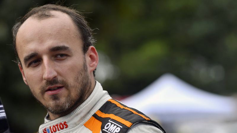 Robert Kubica back in F1 car for first time since 2011 crash