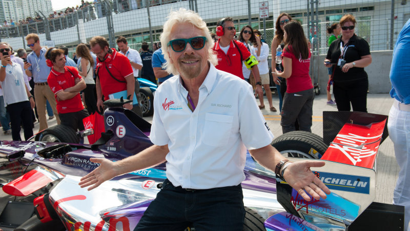 Richard Branson is reserve driver for Formula E NYC ePrix