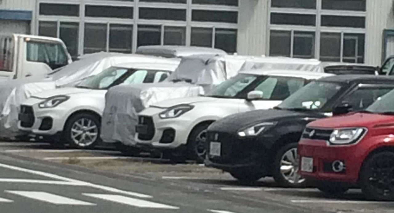 Suzuki's next launches, new Jimny & Swift Sport, spotted together