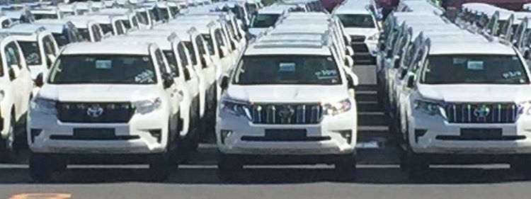 2018 Toyota Land Cruiser Prado spotted at a dealer yard in Japan