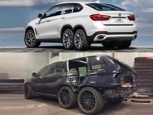 Bmw 6x6 Inspired By The Mental Mercedes Amg 6x6 In The Works