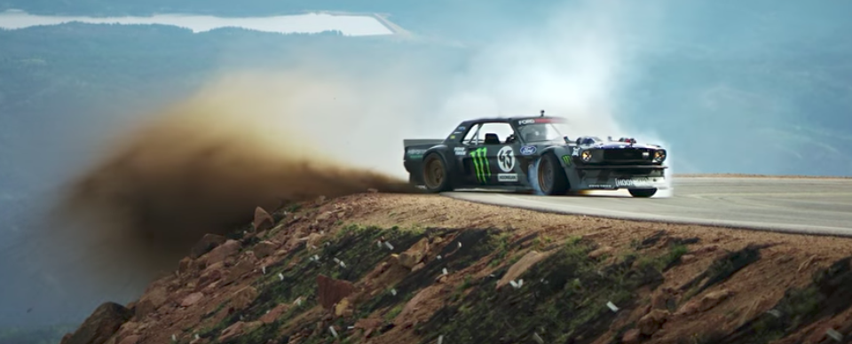 Watch Ken Block's Hoonicorn V2 rip up Pikes Peak in Climbkhana