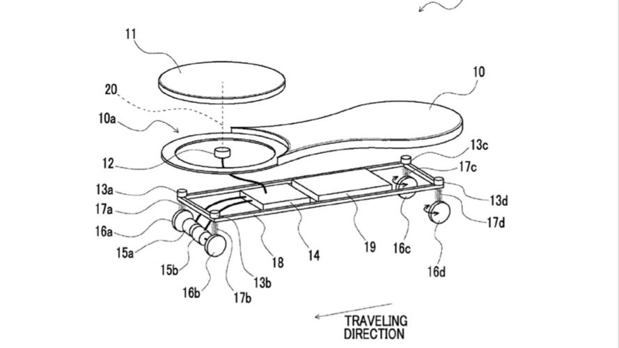 Toyota Patents Funky, Powered Skateboard