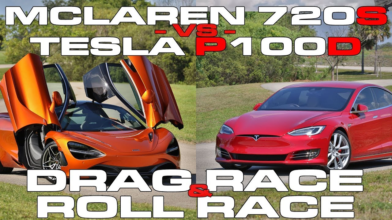 See If Tesla Model S P100D Can Beat McLaren 720s In Drag Race