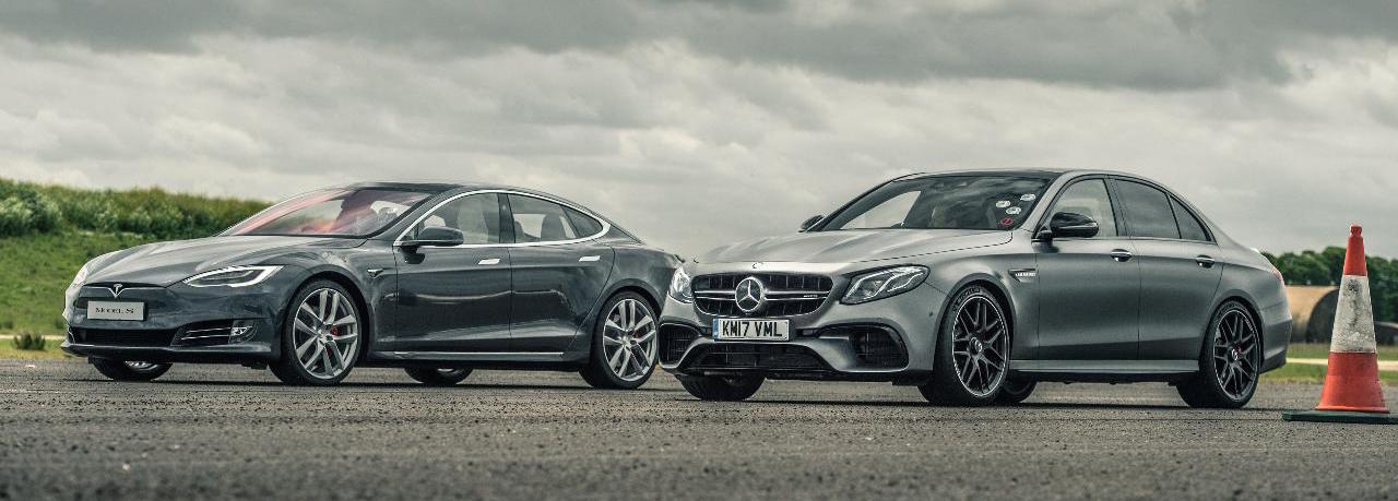 Watch 'Top Gear' race a Tesla Model S against a Mercedes-AMG