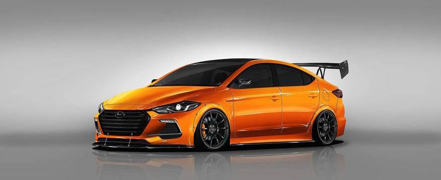 Tuned Hyundai Elantra Sport Look Peachy Ahead Of Journey To SEMA