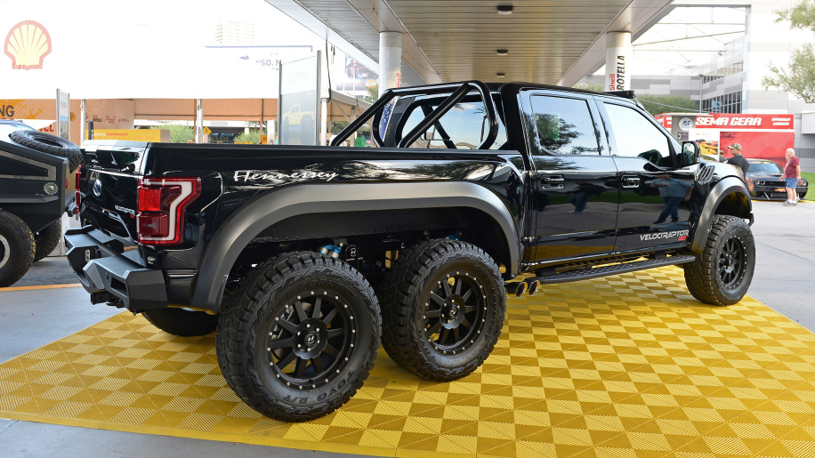 Hennessey VelociRaptor $295K F-150: 'Pure aggression on wheels — all 6 of them'