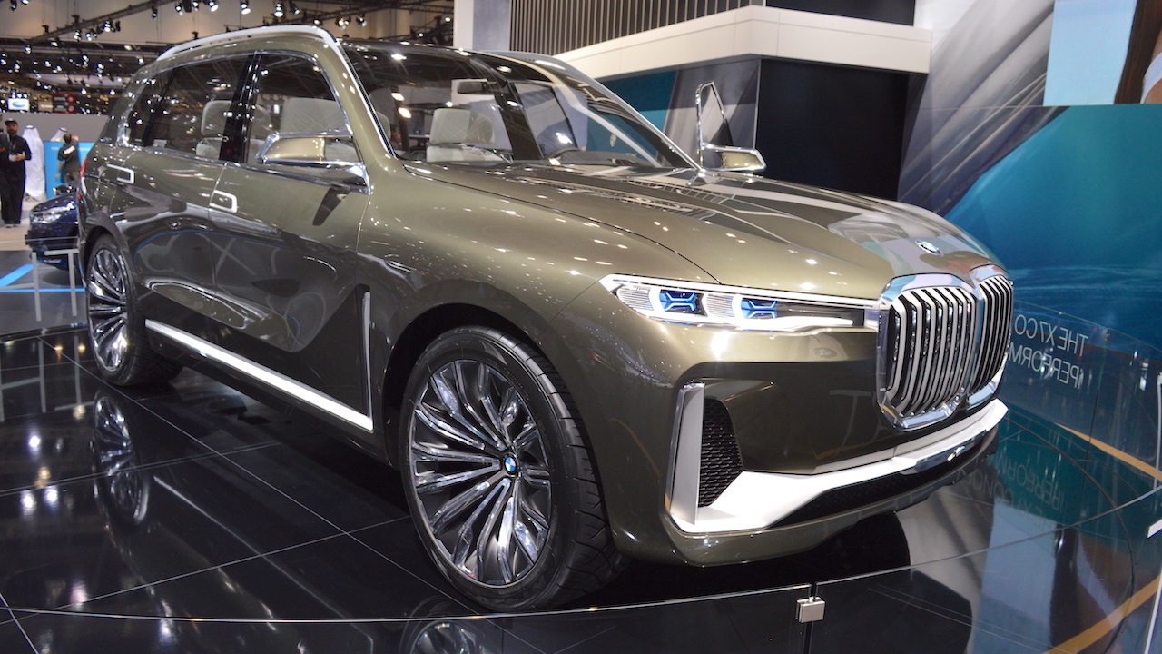 BMW Concept X7 iPerformance showcased at the 2017 Dubai Motor Show