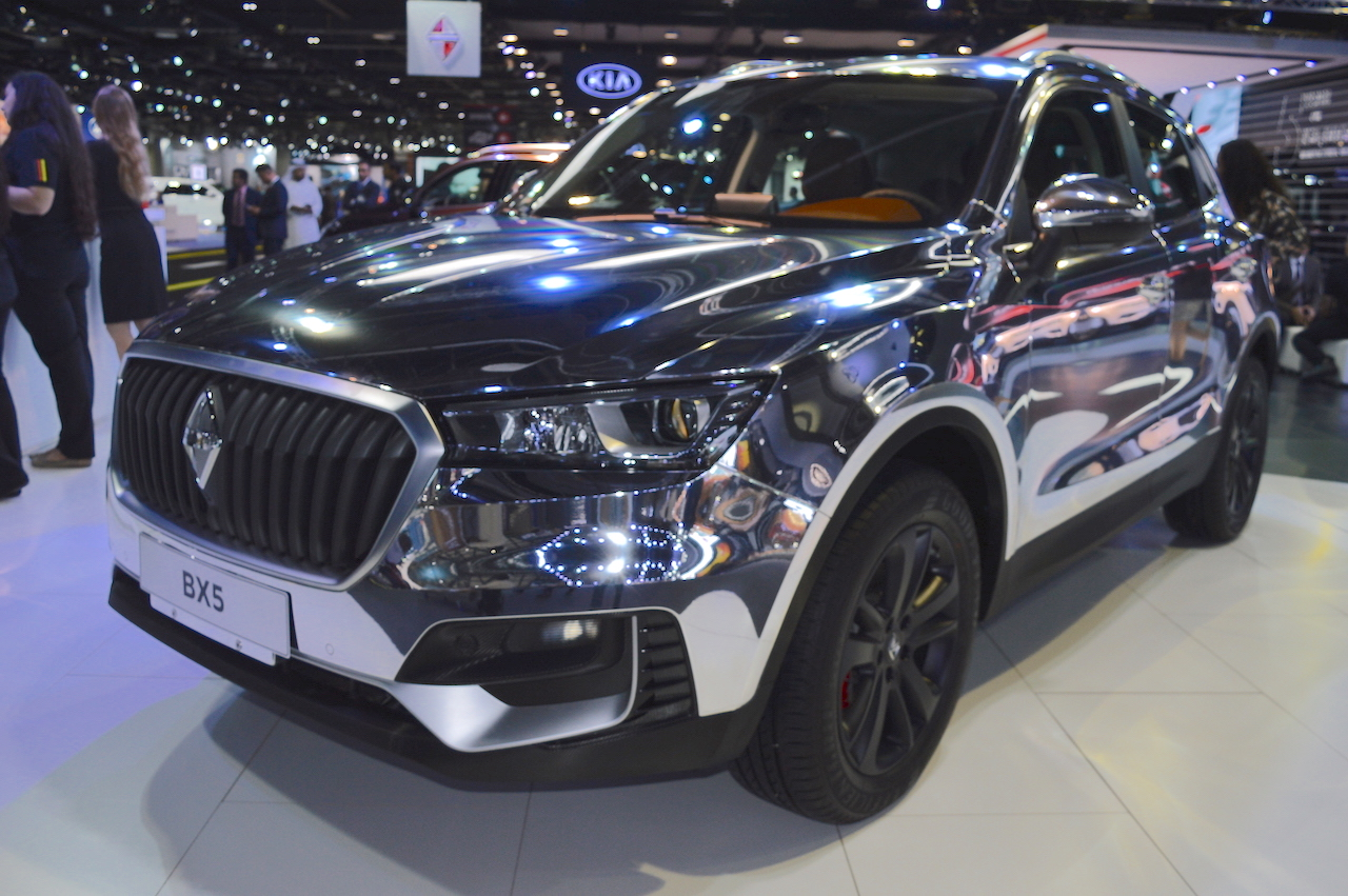 Borgward BX5 chrome showcased at the 2017 Dubai Motor Show