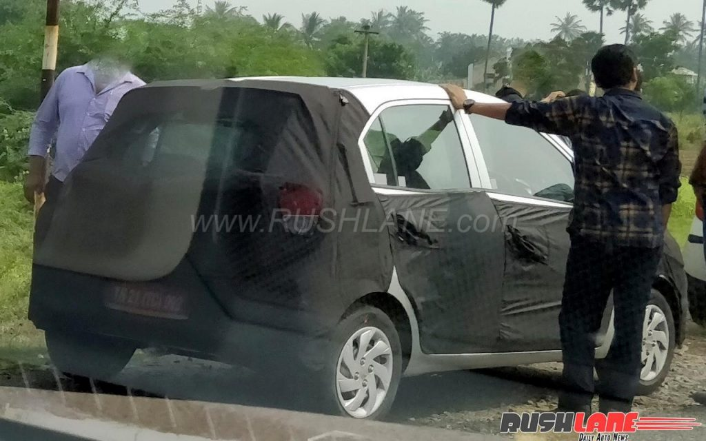 New Hyundai small car (2018 Hyundai Santro) spied for the first time