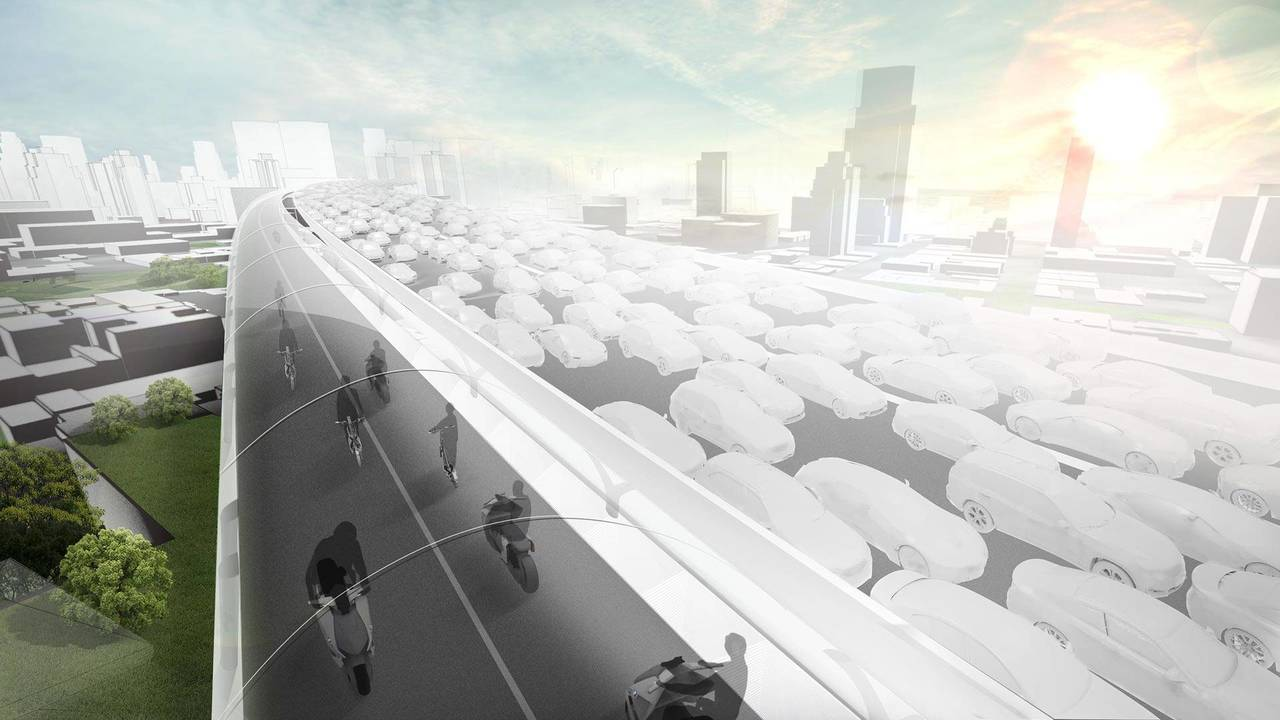 BMW Imagines Elevated Road Exclusively For EVs To Ease Congestion